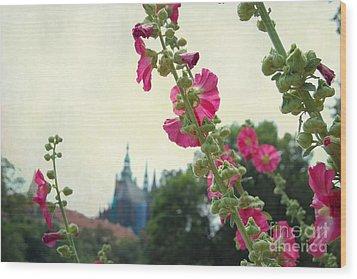 Prague In Bloom V Wood Print