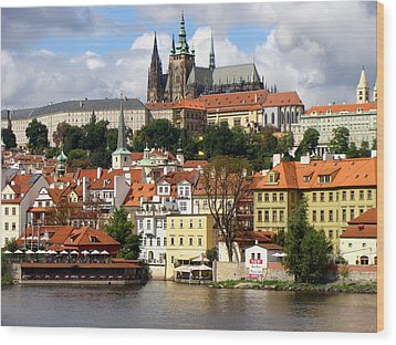 Wood Print featuring the photograph Prague Skyline by Ira Shander