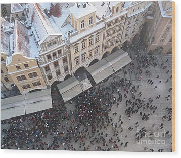 Wood Print featuring the photograph Prague Market by Deborah Smolinske