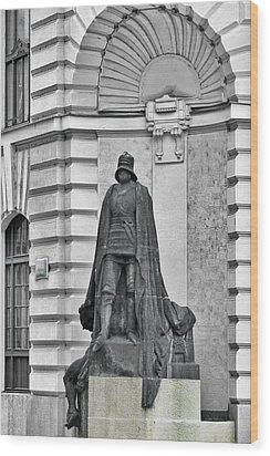 Prague - The Iron Man From A Long Time Ago And A Country Far Far Away Wood Print by Christine Till