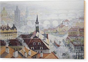 Praha Early Spring  Wood Print by Yuriy Shevchuk