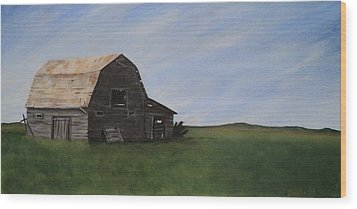 Prairie Barn Wood Print