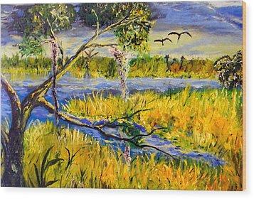 Prairie Wood Print by Christy Usilton