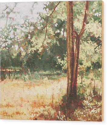 Prairie Light 2 Wood Print by Carlynne Hershberger
