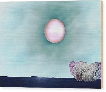 Prairie Moon Wood Print