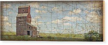 Prairie Panorama Wood Print by Judy Wood