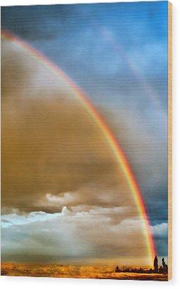 Prairie Rainbow Wood Print by Ellen Heaverlo