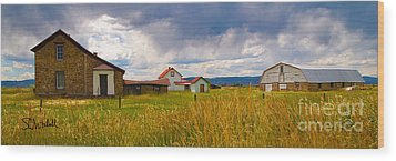 Wyoming Prairie Scene Wood Print