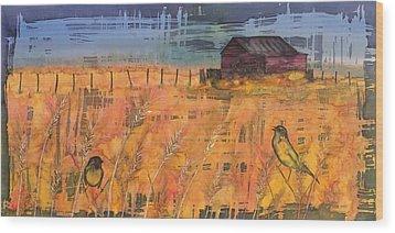 Prairie Song Wood Print by Carolyn Doe