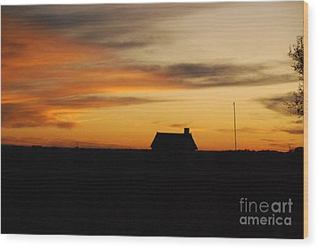 Wood Print featuring the photograph Prairie Sunset by Mary Carol Story