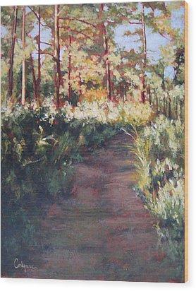 Prairie Walk Wood Print by Carlynne Hershberger
