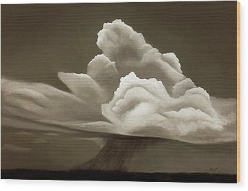 Prairy Storm IIi Wood Print by Garry McMichael