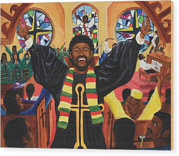 Praise Him Wood Print by Lawrence Childress