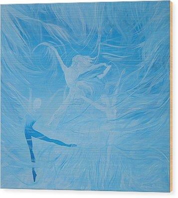 Praise The Lord Dance Wood Print by Susan Harris