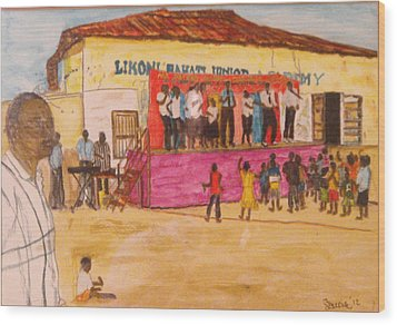 Praisin The Lord In Kenya Wood Print