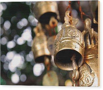 Prayer Bells Wood Print by Kaleidoscopik Photography
