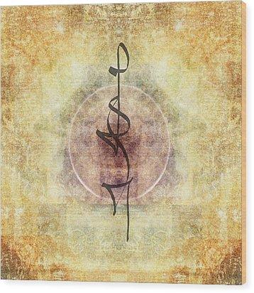 Prayer Flag 29 Wood Print by Carol Leigh