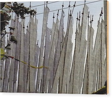 Wood Print featuring the photograph Prayer Flags by Patrick Morgan