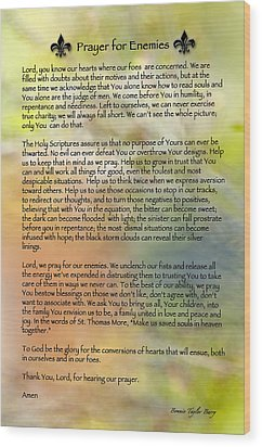 Prayer For Enemies Wood Print by Bonnie Barry