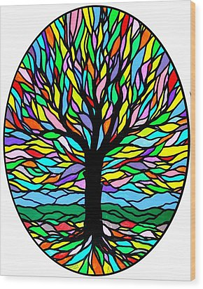 Prayer Tree Wood Print by Jim Harris