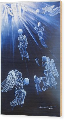 Prayers Ascent Wood Print by Carole Powell