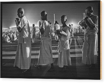 Prayers For Peace In Thaiand Wood Print by David Longstreath