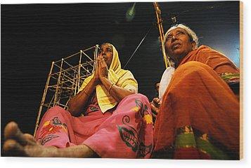 Prayers Wood Print by Money Sharma