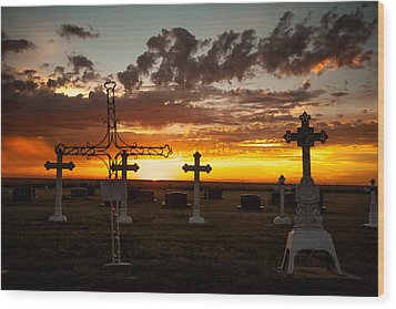 Wood Print featuring the photograph Bearing Our Crosses by Shirley Heier