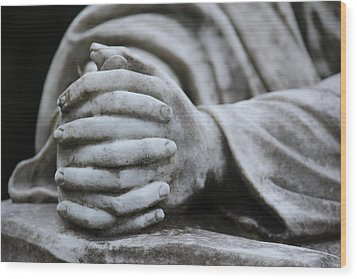 Praying Hands Wood Print by Rowana Ray