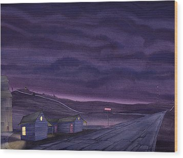 Pre-dawn On The Hi-line Vi Wood Print