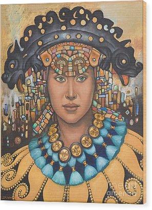 Pre-inca 3 Wood Print by Jane Whiting Chrzanoska