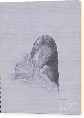 Precious Gift From The Life Of Jesus Series Wood Print by Susan Harris