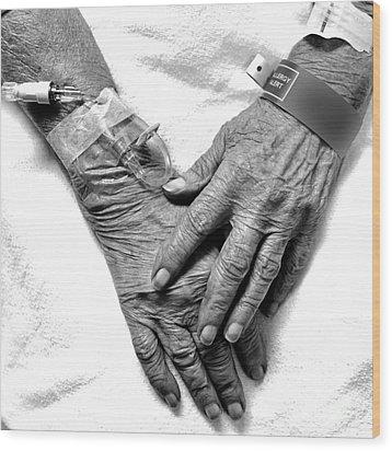 Precious Hands Wood Print by Pattie Calfy