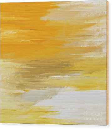 Precious Metals Abstract Wood Print by Andee Design