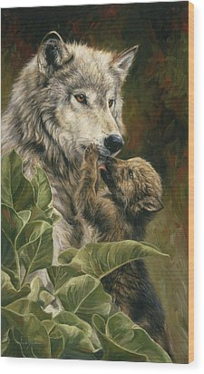 Precious Moment Wood Print by Lucie Bilodeau
