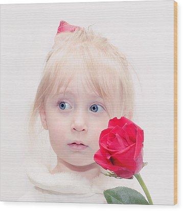Precious Porcelain Princess Wood Print by Tracie Kaska