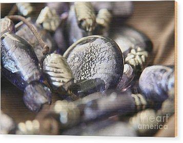 Wood Print featuring the photograph Precious Purple by Lynn England