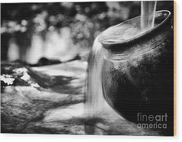 Precious Water Wood Print by Tim Gainey