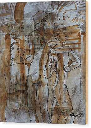 Wood Print featuring the painting Prediction by Robert D McBain