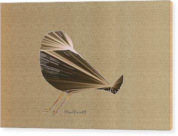 Preening Bird Wood Print by Asok Mukhopadhyay