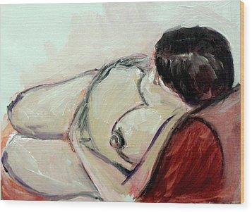 Pregnant01 Wood Print by Tali Farchi