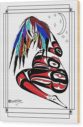 Prego Feathers Wood Print by Speakthunder Berry