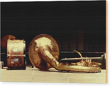 Prelude To New Orleans Jazz Wood Print by Michael Hoard