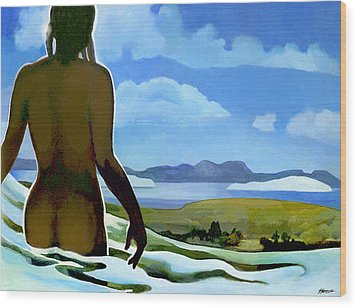 Premonition - Bream Bay Goddess Wood Print by Patricia Howitt