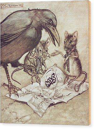 Preposterous Cried Solomon In A Rage From Peter Pan In Kensington Gardens Wood Print by Arthur Rackham