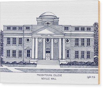 Presbyterian College Wood Print by Frederic Kohli