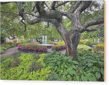 Prescott Garden Wood Print by Eric Gendron