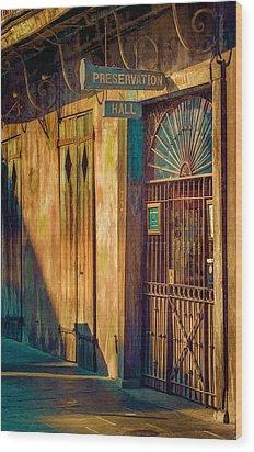 Preservation Hall Wood Print by Brenda Bryant