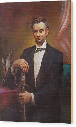 President Abraham Lincoln Wood Print by Svitozar Nenyuk