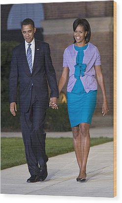 President And First Lady Wood Print by JP Tripp